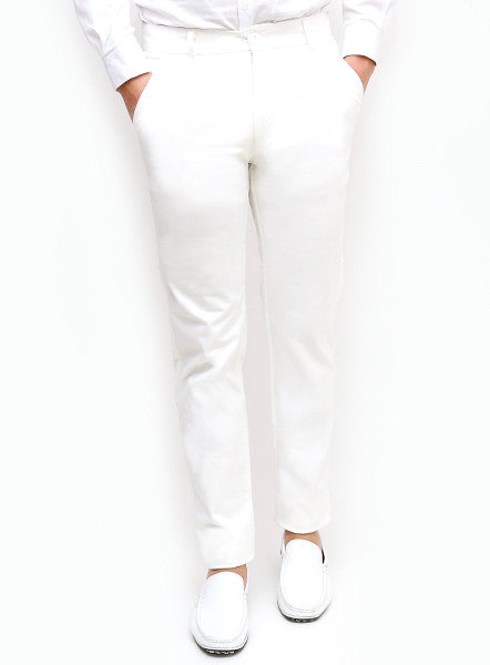 Slim Tapered Chino - White