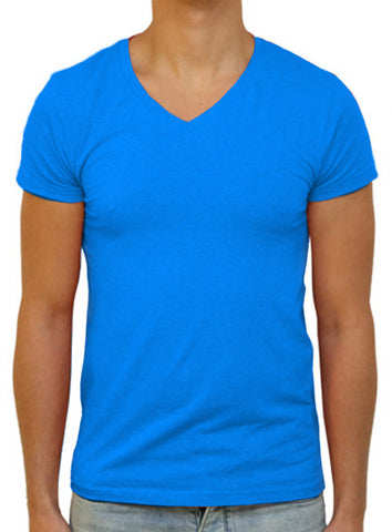 Slim V T-Shirt - Electric Blue