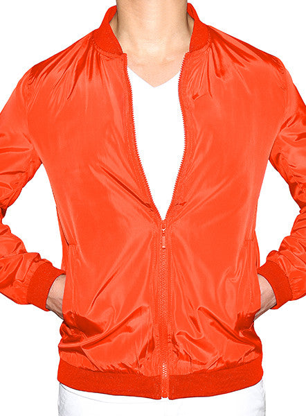 Prep Bomber Jacket - Flame Orange