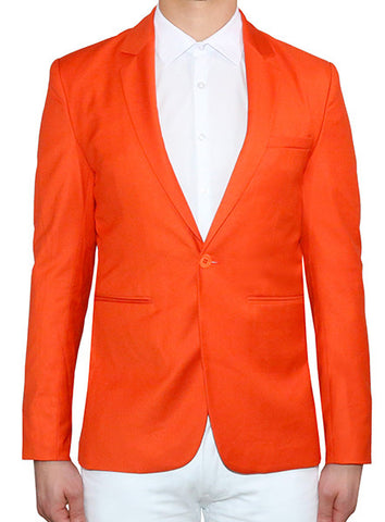 Modern Tailored Blazer - Flame Orange