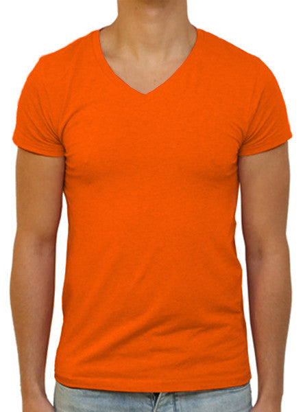 Slim V T-Shirt - Flame Orange
