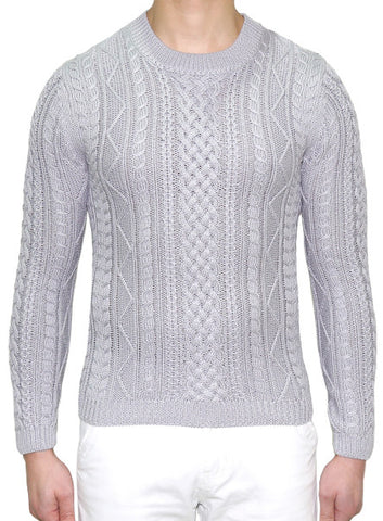 European Cable Knit - Ash Grey