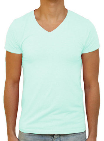 Slim V T-Shirt - Light Turquoise