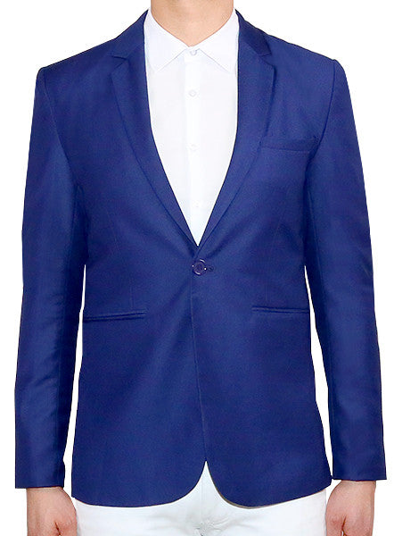 Modern Tailored Blazer - Navy