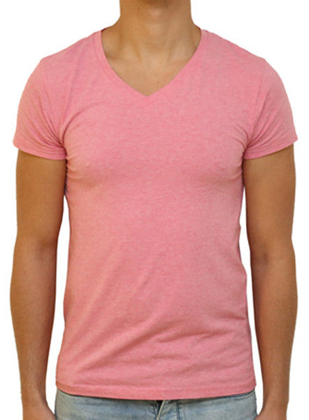 Slim V T-Shirt - True Pink