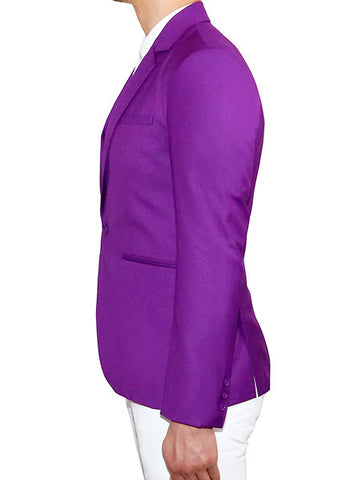 Modern Tailored Blazer - Royal Purple