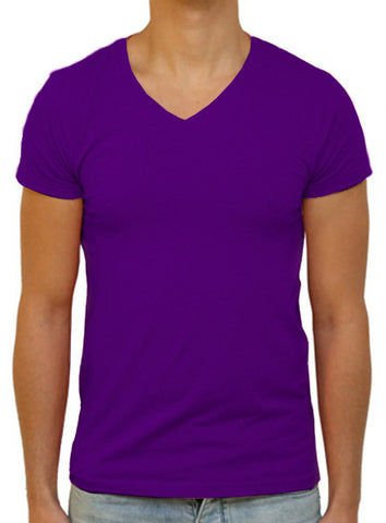 Slim V T-Shirt - Royal Purple