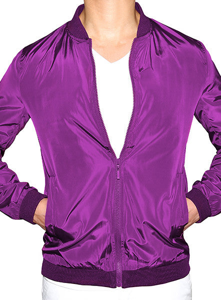 Prep Bomber Jacket - Royal Purple