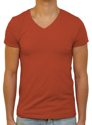Slim V T-Shirt - Rust