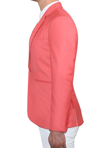 Modern Tailored Blazer - Salmon