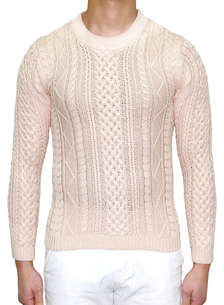European Cable Knit - Sand