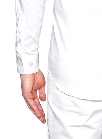 Slim Fitted Dress Shirt - White