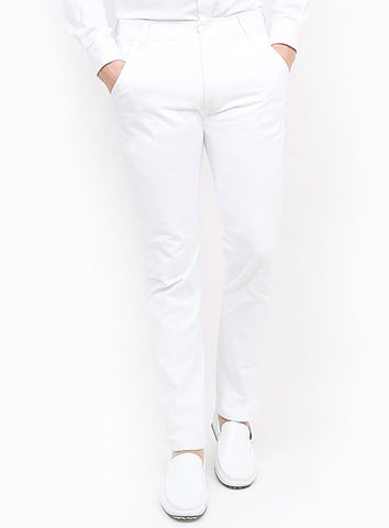 Denim - White - Slim Tapered Fit