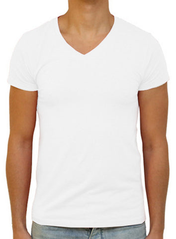 Slim V T-Shirt - White
