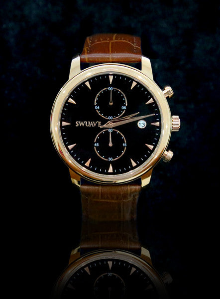 The Swuav'e Tiempo Watch - RoseGold/Brown
