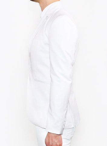 Modern Tailored Blazer - White