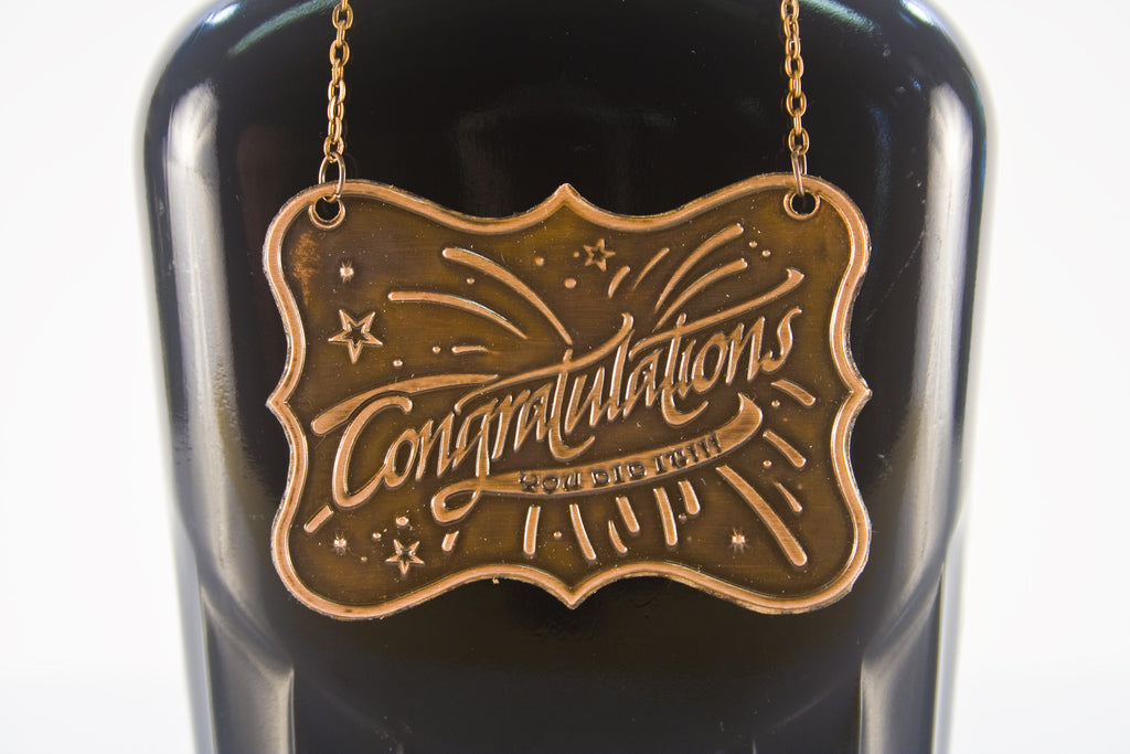 Congratulation Metal Bottle/Decanter Gift Tag - Glasstastic Ideas - 2