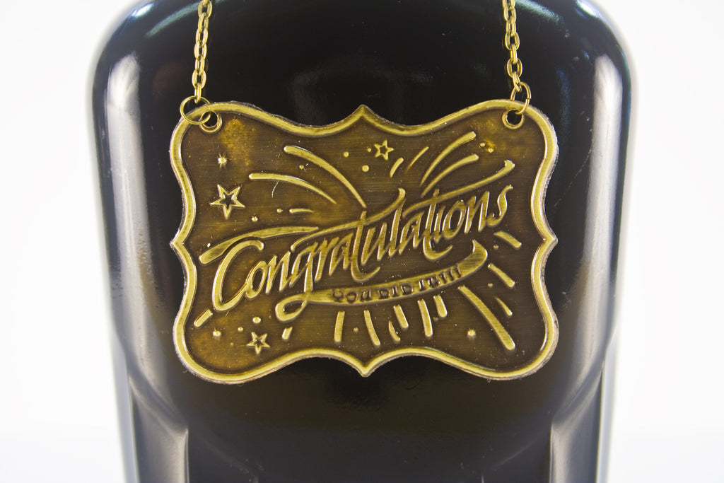 Congratulation Metal Bottle/Decanter Gift Tag - Glasstastic Ideas - 4