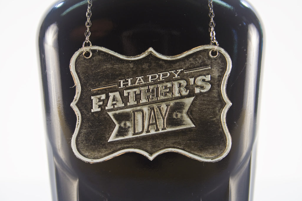 Father's Day Metal Bottle/Decanter Gift Tag - Glasstastic Ideas - 6
