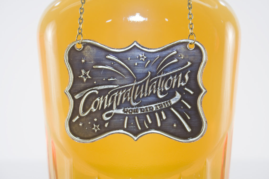 Congratulation Metal Bottle/Decanter Gift Tag - Glasstastic Ideas - 5