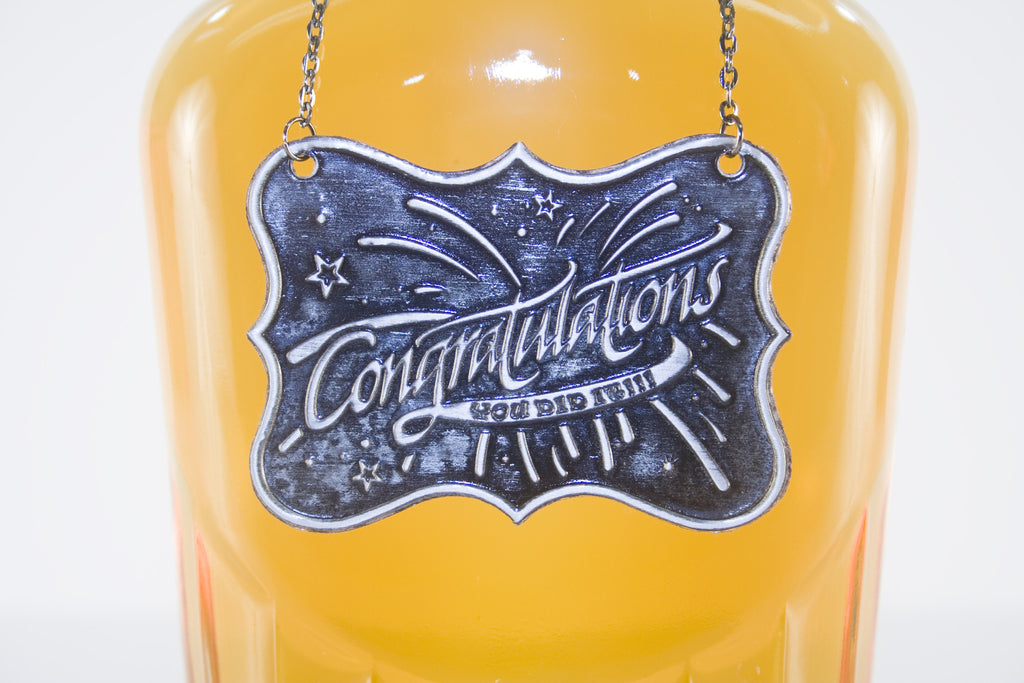 Congratulation Metal Bottle/Decanter Gift Tag - Glasstastic Ideas - 6