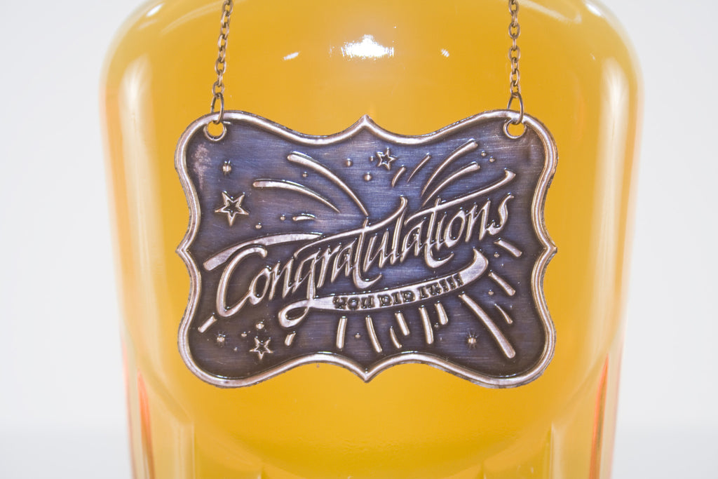 Congratulation Metal Bottle/Decanter Gift Tag - Glasstastic Ideas - 7