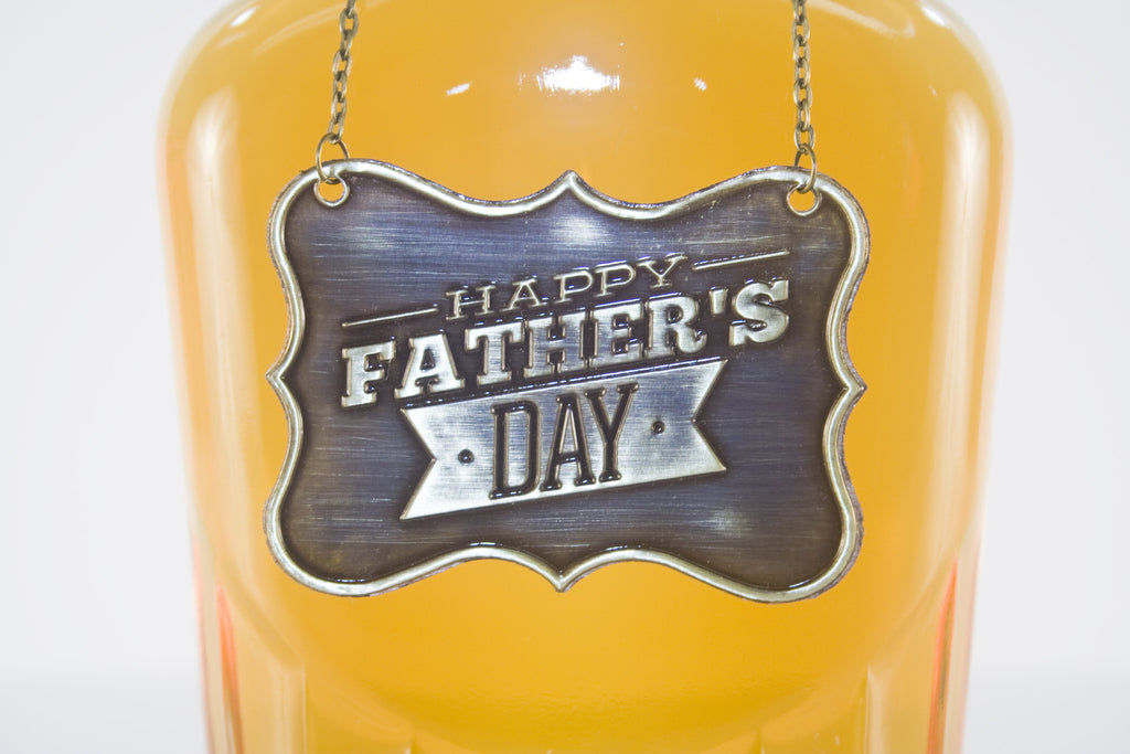 Father's Day Metal Bottle/Decanter Gift Tag - Glasstastic Ideas - 2