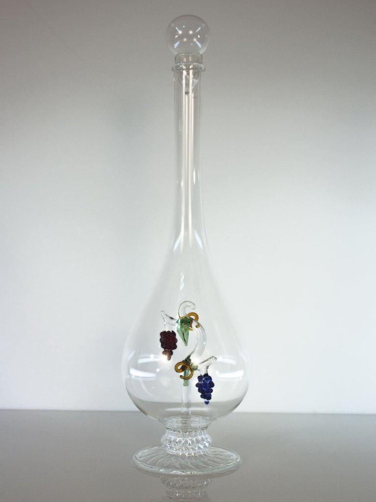 Tear Drop  Bottle with Grape Vine - Glasstastic Ideas - 4