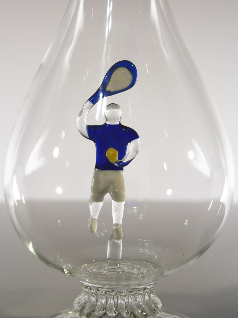 Tear Drop  Bottle with Tennis Player - Glasstastic Ideas - 3