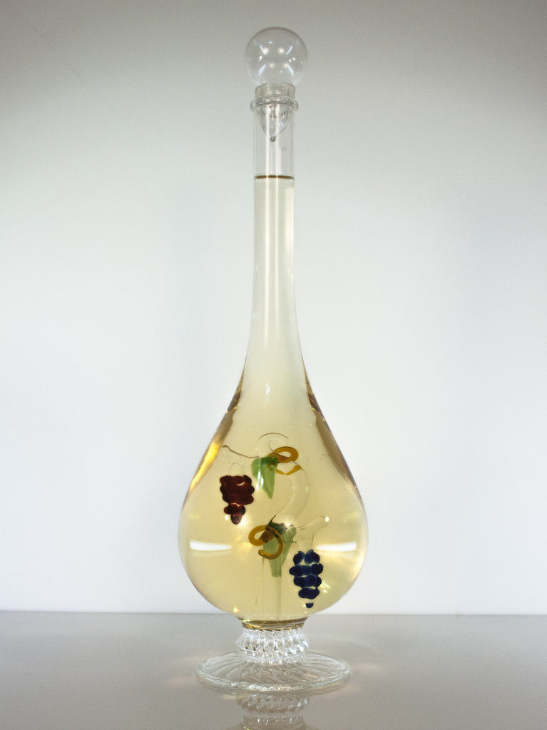 Tear Drop  Bottle with Grape Vine - Glasstastic Ideas - 2