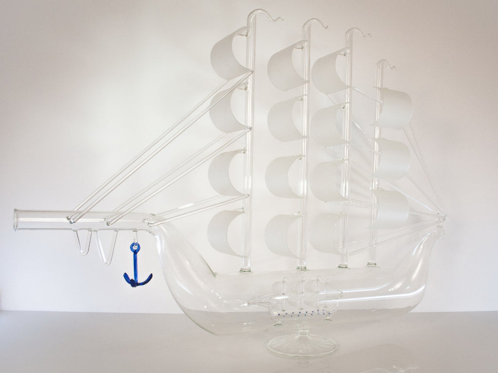 Artistic Ship Figurine Bottle - Glasstastic Ideas - 6