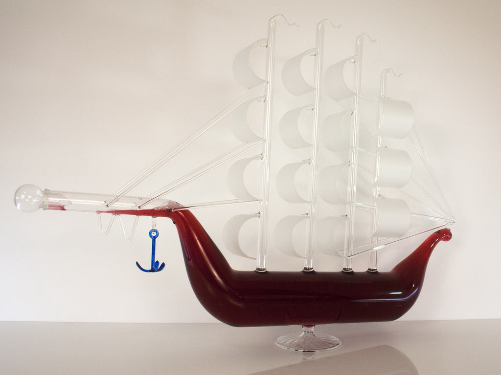 Artistic Ship Figurine Bottle - Glasstastic Ideas - 3