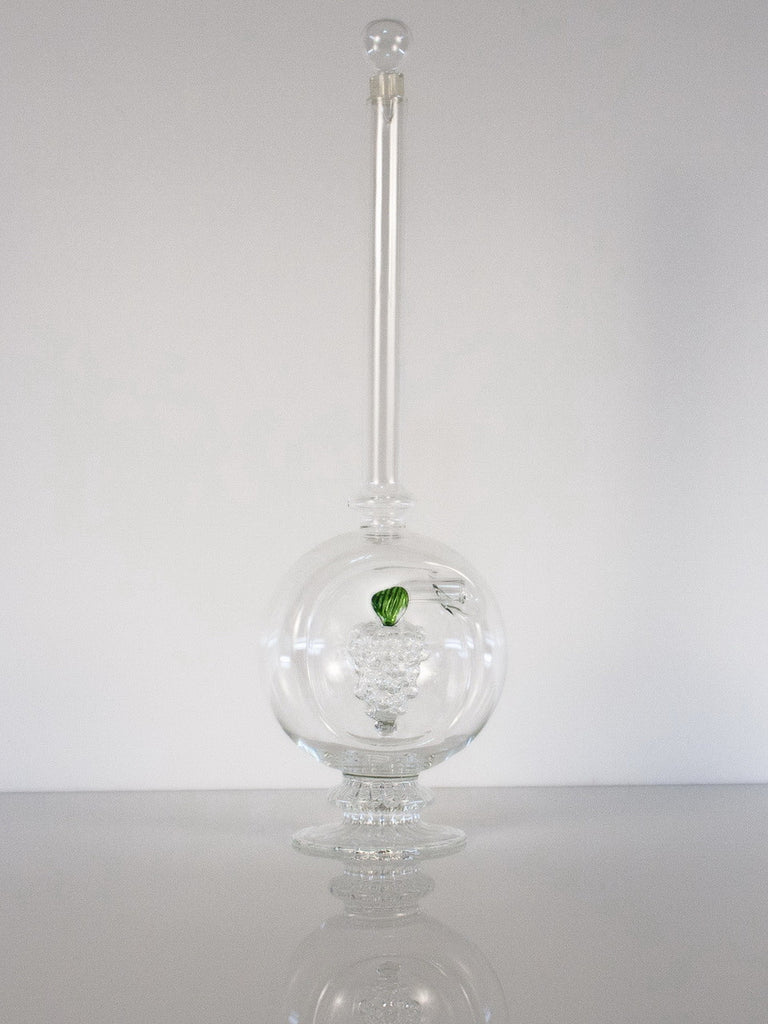 Globe Shaped Bottle with Grape Cluster - Glasstastic Ideas - 4