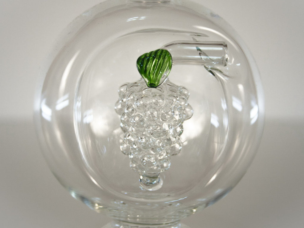 Globe Shaped Bottle with Grape Cluster - Glasstastic Ideas - 5