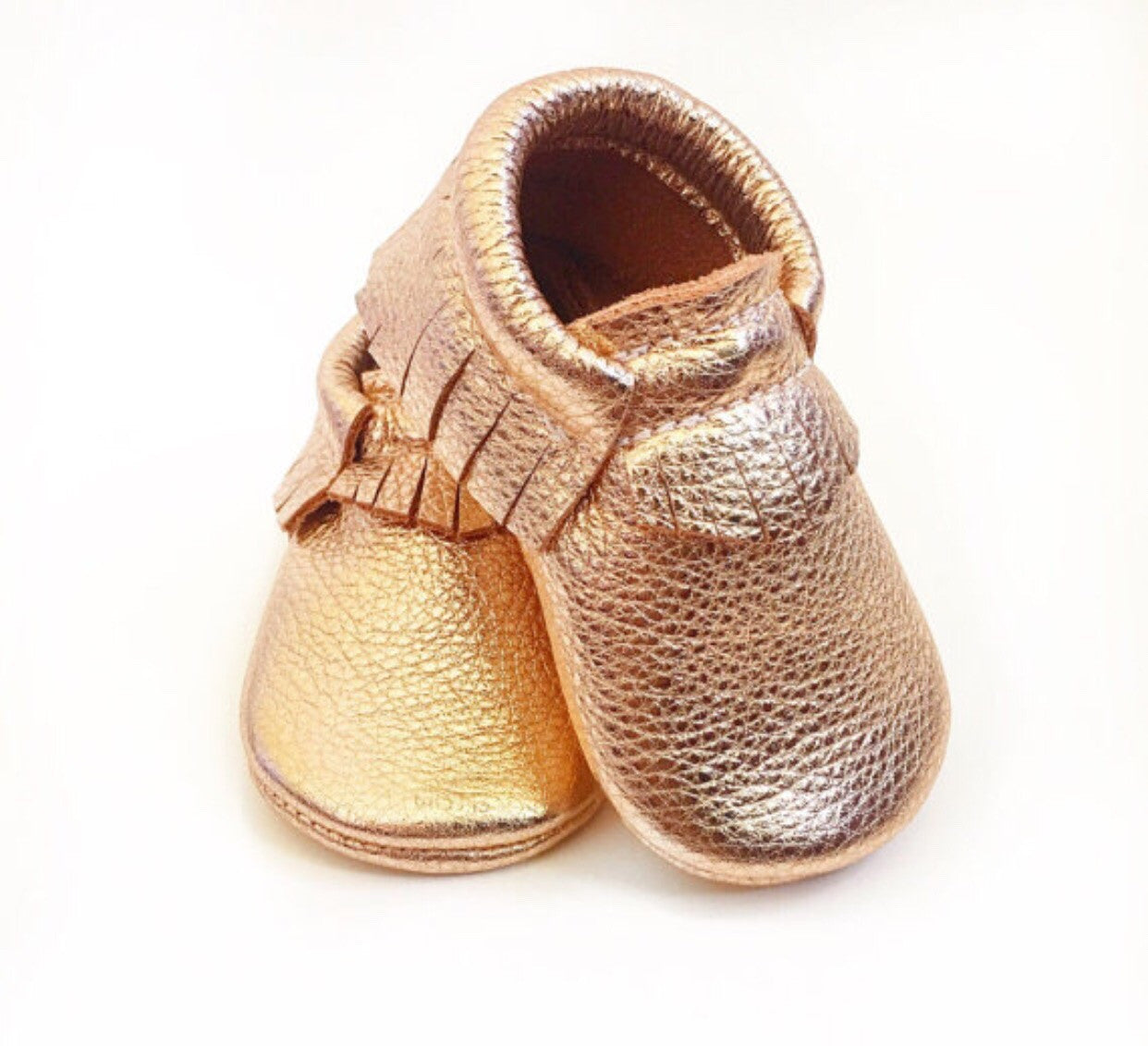 ce970b5134f39 Baby Moccasins - Rose Gold