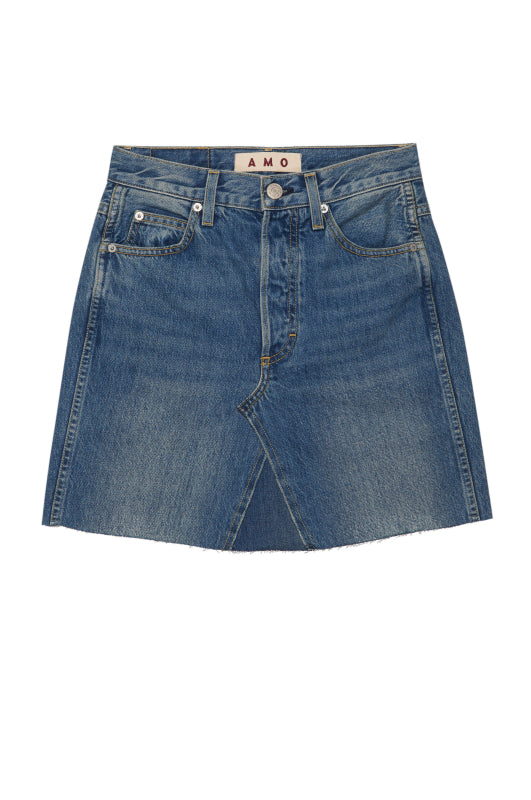 Rework Mini Skirt <br> Medium Blue Denim