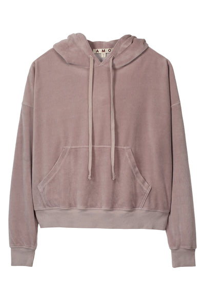 Sample Sale <br> Velour Hoodie <br> Fawn <br> *Final Sale*
