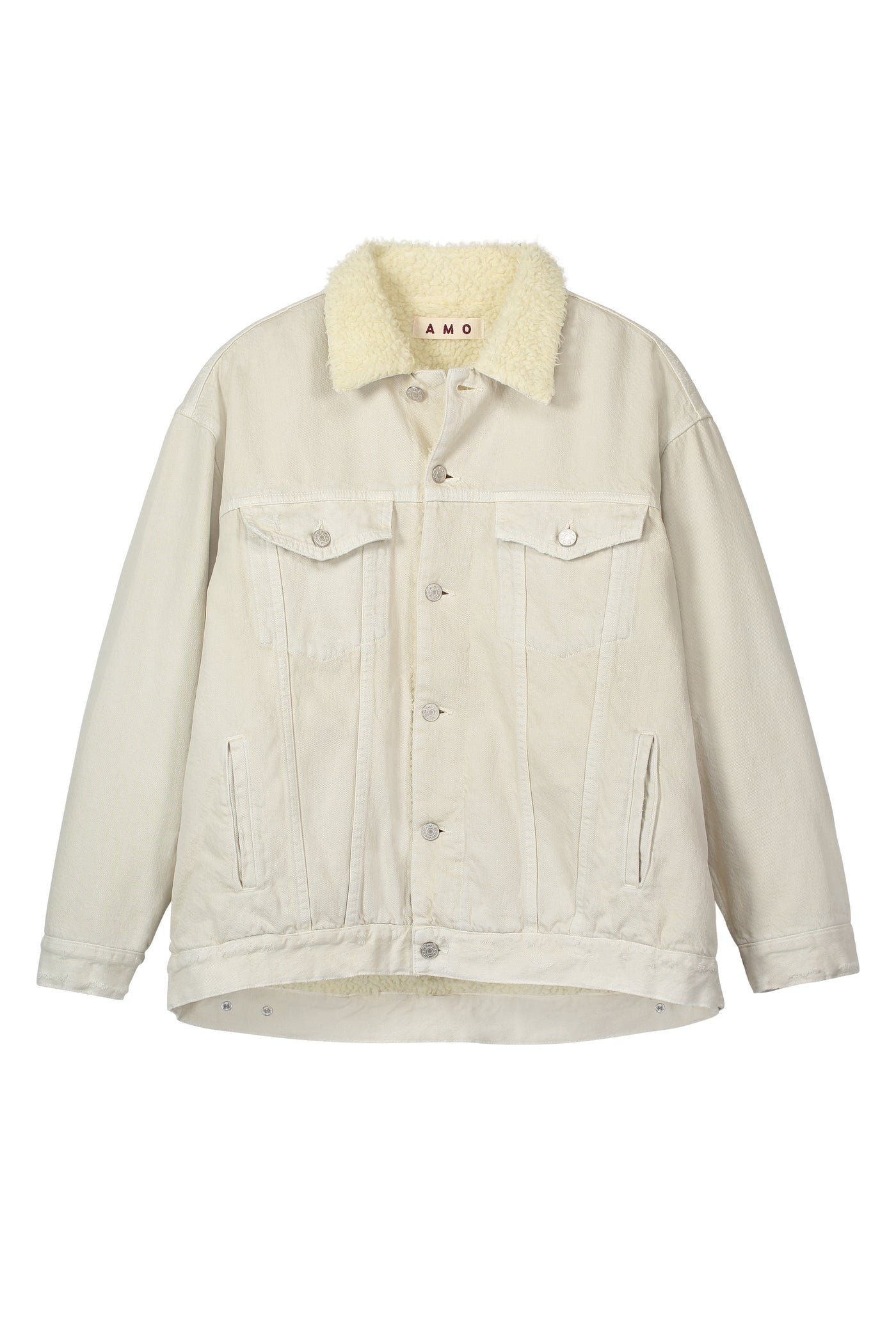 Oversized Sherpa Jacket <br> Vintage White