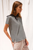 Twist Tee <br> Seaton Stripe