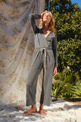 Georgie Knit Jumpsuit <br> Faded Black