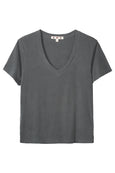 V-Neck Tee <br> Faded Black