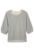 Puff Sleeve Sweatshirt <br> Heather Grey