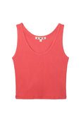 Crop Rib Tank <br> Faded Cayenne