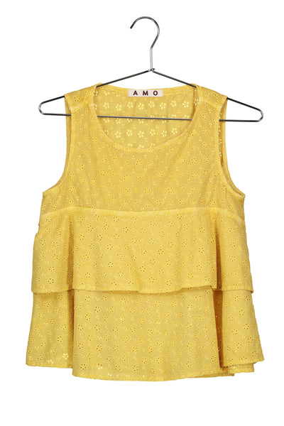 Flounce Tank <br> Marigold <br> *Final Sale*