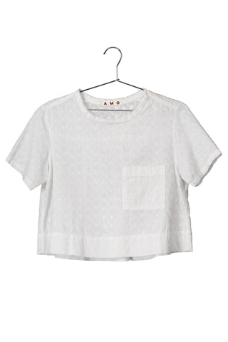 Sienna Pocket Tee <br> Vintage white