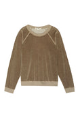 Velour Sweatshirt <br> Light Olive