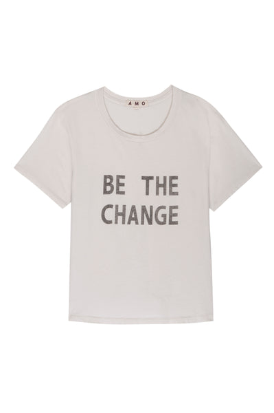 BE THE CHANGE Classic Tee <br> Off White <br> *Pre-order*