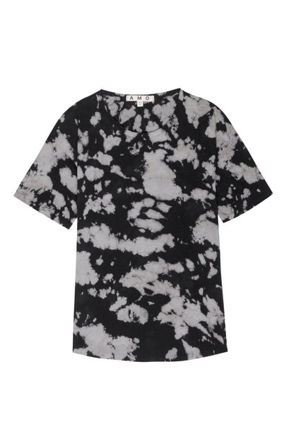Scoop Neck Tee <br> Moonstone Tie Dye
