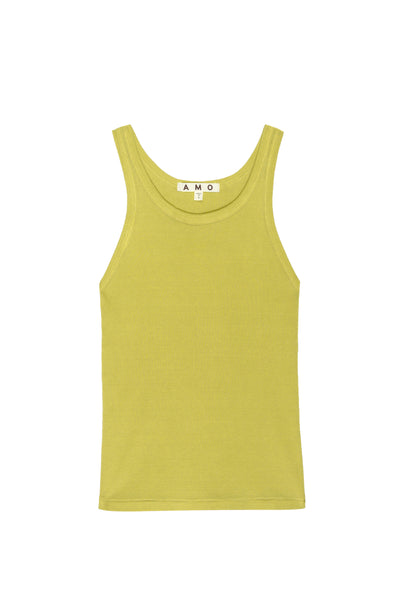 Long Rib Tank <br> Citronella