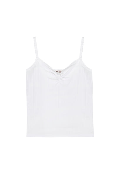 Sweetheart Cami <br> White